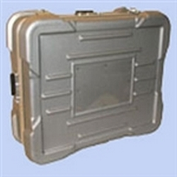 909-Super Shipper-Molded polyethylene construction. Meet ATA specs. Protruding corners protect hardware from damage. Aluminum tongue and groove frame with gasket. Key locks. Continuous hinge. Molded ribs allow positive stacking. Corrosion resistance