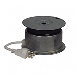 The IR-20 is ideal for rotating small loads with ease. Used as a display turntable or inside small rotating signs, this tiny but durable unit will put motion on your side. Each unit comes with a grounded 5ft power cord - just plug it in and away it goes.