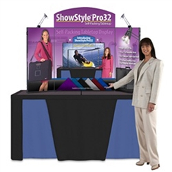 Something big has happened to the ShowStyle Briefcase Display. The all new ShowStyle Pro32 display features a whopping 14 square feet of graphic area, 77% larger than the original ShowStyle Briefcase Display. The Pro32 is ideal for tradeshows.