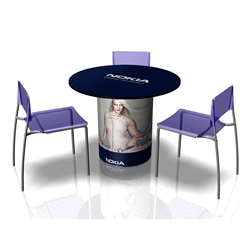 The SOLO Table Full Wrap Graphic will dress your SOLO Table for success! Trade show counters and tables are the perfect solution for a product display, sampling station, computer workstation or service booth