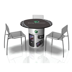 Use SOLO Trade Show Table as a sit down area or a way to define your conference space. The SOLO Table is a perfect size for any size booth.