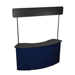 Use QUATTRO Connector Post Kit as an extended counter or desk area to display product or literature. Trade show counters are the perfect solution for a product display, sampling station, computer workstation or service booth.