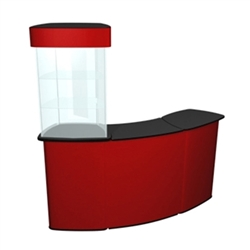 QUATTRO Connector Displaycase Kit Trade Show Counter provide trade show exhibits with the accessories they need to complete areas of presentation in their exhibits and displays. Counters, Pedestals, Kiosks, & Workstations are great exhibit products