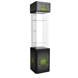 Magic Displaycase Glass Counter Trade Show Counter and Graphic is a great way to display your product at trade show or Event. Use the signage area at the top of the display case to attract attention.
