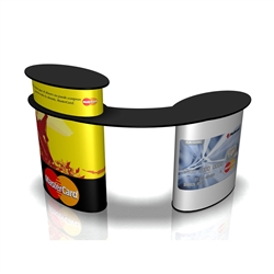 The SOLO Workset Base Graphic will dress your SOLO Workset Base for success!  SOLO portable podiums and demo tables for your next trade show or event. Solo caunters perfect modular counter system for interactive marketing