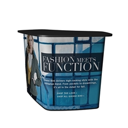 SOLO Wave Counter Full Wrap Graphic Onlywill dress your SOLO Wave for success! Use SOLO Wave Trade Show Counter as a double counter or desk area. The SOLO Wave creates a larger presentation space for product or literature display.