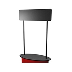 SOLO Posts with Header for counter or podium will serve as a great marketing tool.  Use it with SOLO Standard counter to create the perfect demo station or podium. SOLO Posts with Header for SOLO trade show counters and SOLO portable tables.