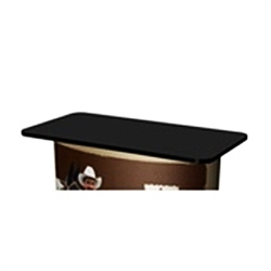The SOLO Square PodiumTop Upgrade changes your SOLO Standard or Wing surface into a larger counter area! Trade show counters and tables are the perfect solution for a product display, sampling station, computer workstation or service booth