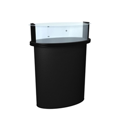 This SOLO Mini Glass Counter Trade Show Counter with Header serves perfectly as a showcase and protection for your trade show or retail products.  The header is perfect for your logo or company message.  Add the fluorescent light to bring more attention