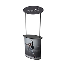 SOLO Uno Post Trade Show Counter Workstation will serve perfectly as the base of your trade show or retail display. Add a beautiful graphic wrap, connector or wing to convert the podium into a demo or service station. Trade show counters, kiosks, podium