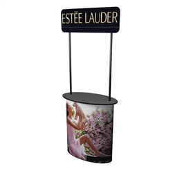 SOLO Uno Magic Counter with Posts and Header will serve perfectly as the base of your trade show or retail display. Add a beautiful graphic wrap, connector or wing to convert the podium into a demo or service station. Trade show counters, kiosks, podium