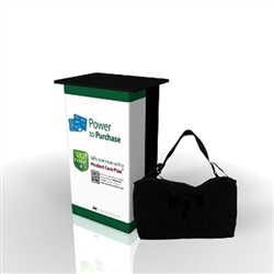 SOLO Biscotti Demo Station Counter with Full Graphic Wrap is a cost effective solution for a professional demonstration station podium. Strong construction with long-lasting elements guarantees an intelligent investment that will please both your sales