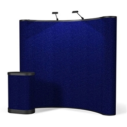 8ft ENERGY Curved Pop Up - Fabric Display