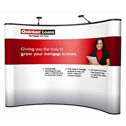 10ft ENERGY Curved Pop Up Floor Kit - Mural Display