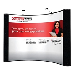 10ft Curved Pop Up Display - Mural w/ Fabric End Panels