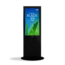 32in MAKITSO V3BP32 Blade Digital Signage Black Kiosk. Event and trade show professionals can take advantage of the power that digital signage kiosk, when designing your next trade show booth think of incorporating flat-panel screens to make a big impact.