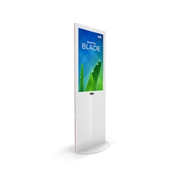 32in MAKITSO V3WP32 Blade Digital Signage White Kiosk Display. Event and trade show professionals can take advantage of the power that digital signage kiosk, when designing your next trade show booth think of incorporating flat-panel screens to make a big
