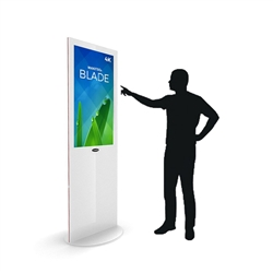 Blade 32in LED Touch Screen Digital Signage White Kiosk V3WPT32. Event and trade show professionals can take advantage of the power that digital signage kiosk, when designing your next trade show booth