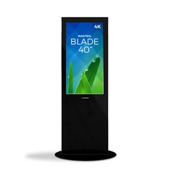 40in MAKITSO V3BP40 Blade Digital Signage Black Kiosk. Event and trade show professionals can take advantage of the power that digital signage kiosk, when designing your next trade show booth think of incorporating flat-panel screens to make a big impact.