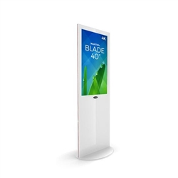 Blade 40in LED Touch Screen Digital Signage White Kiosk V3WPT40. Event and trade show professionals can take advantage of the power that digital signage kiosk, when designing your next trade show booth