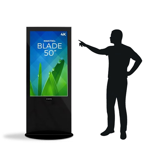 Blade 50in LED Touch Screen Digital Signage Black Kiosk V3BPT50. Event and trade show professionals can take advantage of the