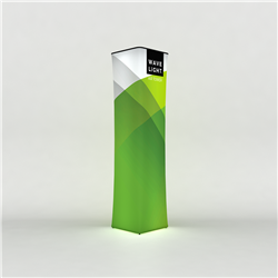 126in Wavelight Air Backlit Inflatable Square Tower with Fabric Graphic Print. The WaveLight Air Inflatable Backlit Circular Tower has an inner core thats durable, stable and strong enough to sit on without collapsing.