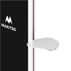 Triangle Shelf for Makitso Blade Digital Kiosks. Discover the Makitso Blade digital signage kiosk with optional touch screen display solutions and create a lasting impression in the mind of your audience through personal interactive experiences.