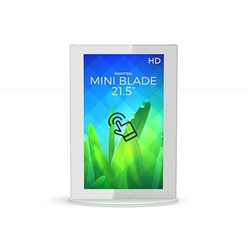 21.5in Makitso White Mini Blade Touch Screen Digital Signage MINWTA21 Vertical Mode eliminate the need for printing new banners and will provide a strong and elegant presence at your trade show, retail, corporate locations as well as high traffic areas ai