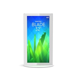 32in Mini White Blade Digital Signage Screen Displays Vertical Mode eliminate the need for printing new banners and will provide a strong and elegant presence at your trade show, retail or corporate locations as well as high traffic areas such as airports