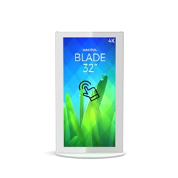 32in Makitso Mini Blade Black Touch Screen Digital Signage MINWTA32 Vertical Mode eliminate the need for printing new banners and will provide a strong and elegant presence at your trade show, retail, corporate locations as well as high traffic areas airp