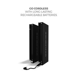 Makitso Concierge Rechargeable Battery. The front face the Makitso Concierge is protected with a 5mm thick tempered safety glass which can be printed on the reverse side with vibrant color.