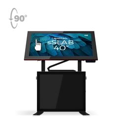 40in Makitso Sslab Touch Screen Interactive Digital Signage Screen Black Table Display with Pro content driver. Create a memorable experience for students, hotel and restaurant patrons, potential clients at trade shows with customized touch screen tables