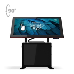 50in Makitso Sslab Touch Screen Interactive Digital Signage Screen Black Table Display with Pro content driver. Create a memorable experience for students, hotel and restaurant patrons, potential clients at trade shows with customized touch screen tables