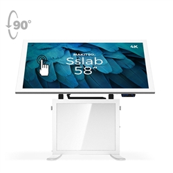 58in Makitso Sslab Touch Screen Interactive Digital Signage Screen White Table Display with Pro content driver. Create a memorable experience for students, hotel and restaurant patrons, potential clients at trade shows with customized touch screen tables