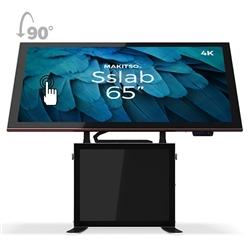 65in Makitso Sslab Touch Screen Interactive Digital Signage Screen Black Table Display with Pro content driver. Create a memorable experience for students, hotel and restaurant patrons, potential clients at trade shows with customized touch screen tables
