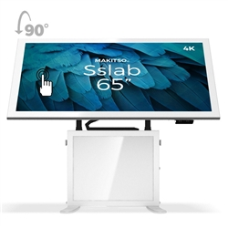 65in Makitso Sslab Touch Screen Interactive Digital Signage Screen White Table Display with Pro content driver. Create a memorable experience for students, hotel and restaurant patrons, potential clients at trade shows with customized touch screen tables