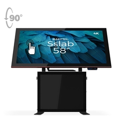 58in Jumbo Sslab Touchscreen Interactive Digital Signage Screen Black Table Display Android content driver. Create a memorable experience for students, hotel and restaurant patrons, or potential clients at trade shows with customized touch screen tables