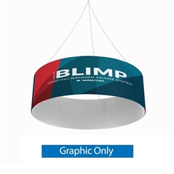 8ft x 24in MAKITSO Blimp Tube Hanging Fabric Banner Single Sided Print Only. It is easy for trade show booths to get lost in the crowd. Create excitement and make your booth more visible by displaying our custom Ceiling Hanging Banner Displays