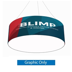8ft x 24in MAKITSO Blimp Tube Hanging Sign -  Print with Blank Bottom only. It is easy for trade show booths to get lost in the crowd. Create excitement and make your booth more visible by displaying our custom Ceiling Hanging Banner Displays