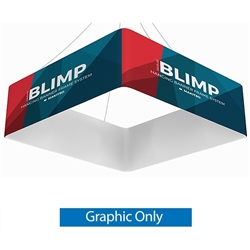 8ft x 24in MAKITSO Blimp Quad Hanging Tension Fabric Banner Single Sided Print Only. Blimp Quad Square Hanging Sign is an impressive and affordable trade show and exhibit hanging sign, offers high-end graphics.