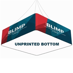 12ft x 48in MAKITSO Blimp Quad Hanging Tension Fabric Banner with Blank Bottom. Blimp Quad Square Hanging Sign is an impressive and affordable trade show and exhibit hanging sign with high quality graphic