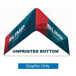 8' x 24'' MAKITSO Blimp Trio (Triangle) Hanging Tension Fabric Banner with Blank Bottom Graphic Only is effective and affordable solution for trade show. The pillowcase style graphic is easy to assembly, the frame made from light weight aluminum. High qua