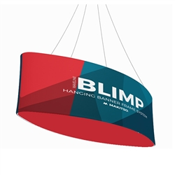 10ft x 24in MAKITSO Blimp Ellipse Hanging Tension Fabric Banner Double Sided. Hanging Banner Displays: high-quality print graphic, lightweight aluminum frame, largest variety of Ellipse Hanging signs for trade shows.