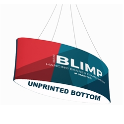 10ft x 24in MAKITSO Blimp Ellipse Hanging Tension Fabric Banner with Blank Bottom. Hanging Banner Displays: high-quality print graphic, lightweight aluminum frame, largest variety of Ellipse Hanging signs for trade shows.