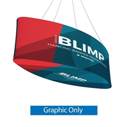 10ft x 24in MAKITSO Blimp Ellipse Hanging Tension Fabric Banner Graphic with Printed Bottom Only. Hanging Banner Displays: high-quality print graphic, lightweight aluminum frame, largest variety of Ellipse Hanging signs for trade shows.