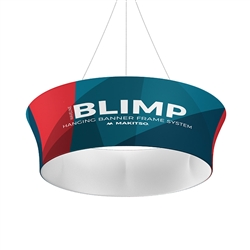 10ft x 42in MAKITSO Blimp Tube Tapered Hanging Tension Fabric Banner Single Sided. Blimp series of hanging signs for trade show made from light aluminum, wrapped in a vibrant dye-sublimation graphic print. Hang overhead from ceilings or truss systems.