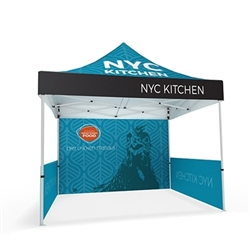 10ft Makitso Event Tent w/ Full and Half Walls - Single Sided (Frame & Canopy). The result is a vibrant, long-lasting graphic that will provide you with branding for years to come.