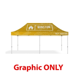 20ft Makitso Event Tent Top Full Color Graphic Print - Single Sided (Top Only). The result is a vibrant, long-lasting graphic that will provide you with branding for years to come.