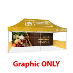 20ft Makitso Event Tent Top Full Color w/ Full and Half Walls - Single Sided (Graphic Only). The result is a vibrant, long-lasting graphic that will provide you with branding for years to come.