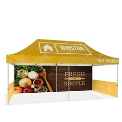 20ft Makitso Event Tent w/ Full and Half Walls - Double Sided (Frame & Canopy). The result is a vibrant, long-lasting graphic that will provide you with branding for years to come.